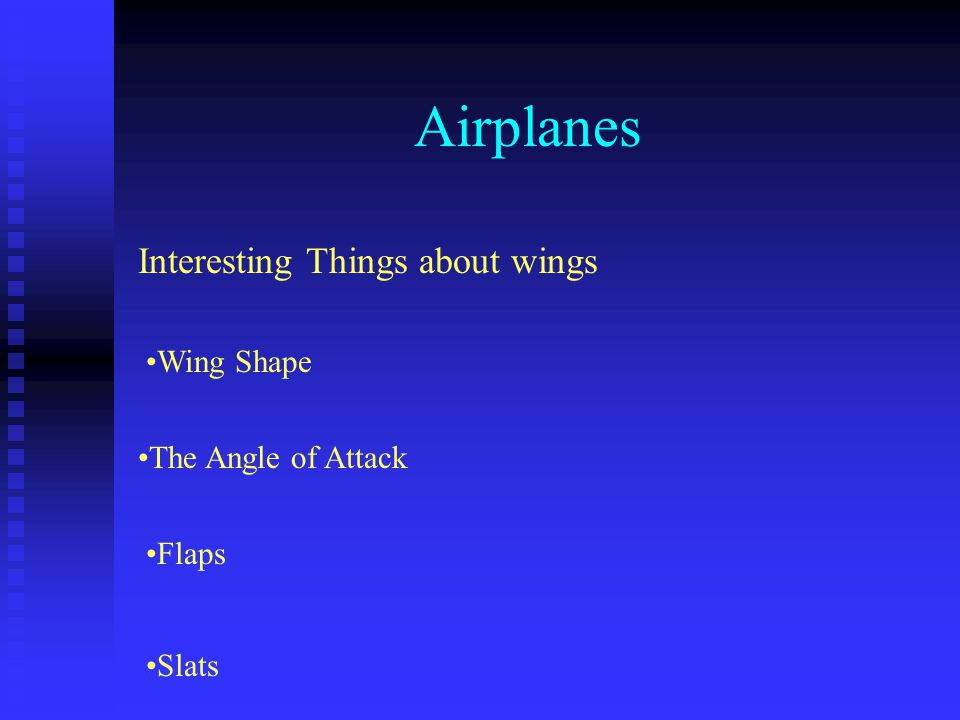 Airplanes Interesting Things about wings Wing Shape
