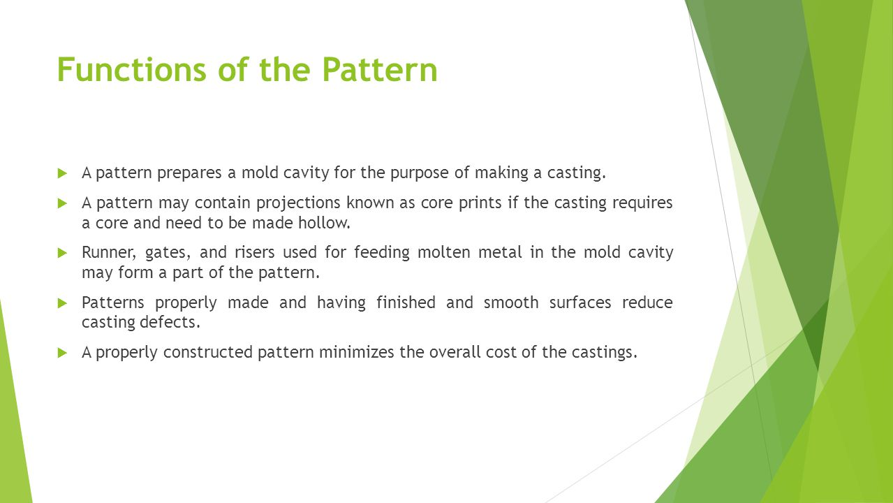 Functions of the Pattern