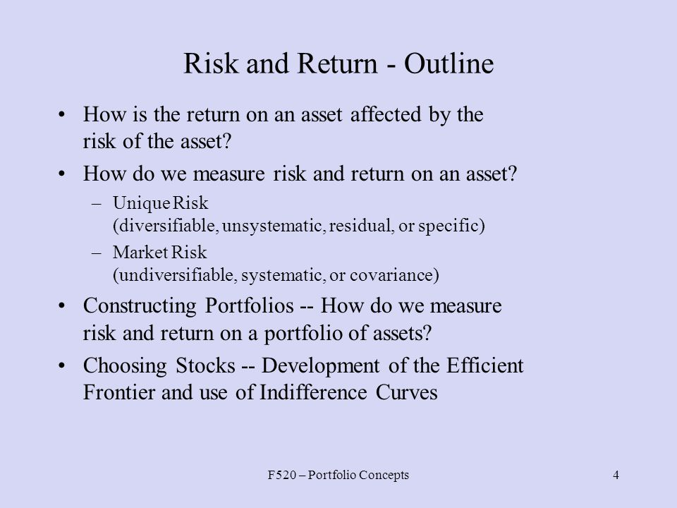 risk and return strategies The association of accountants and financial professionals in business ima  strategic risk management: optimizing the risk-return profile.