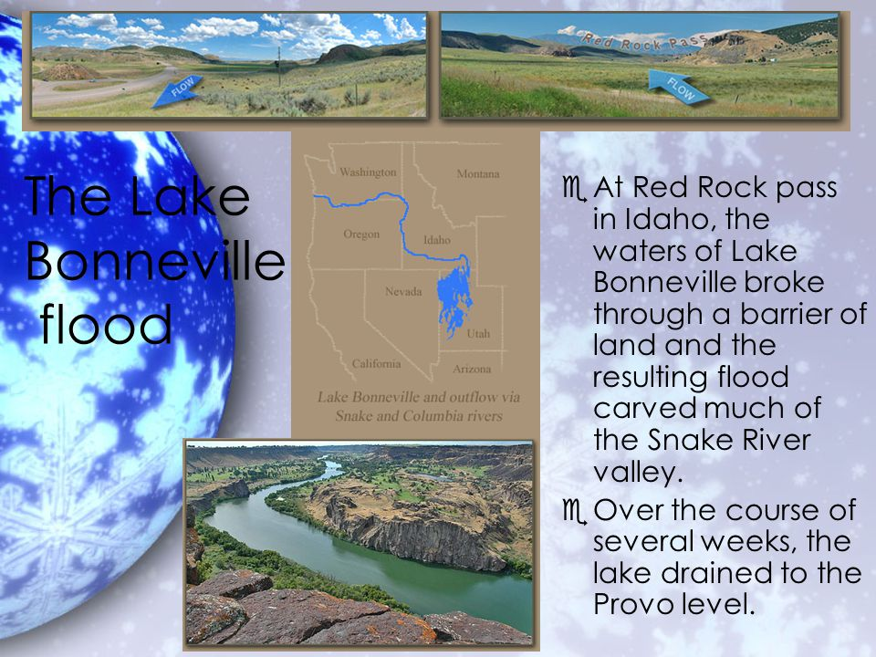 Chapter 2 utahs geology ppt download 31 the lake bonneville flood publicscrutiny Choice Image