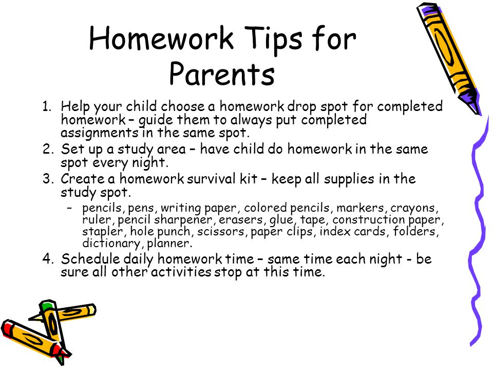 Tips For Parents On How to Help With Homework