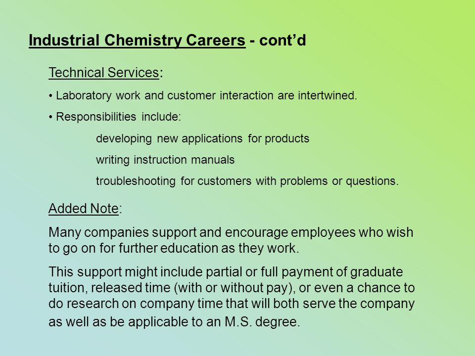 chemistry the chemical community ppt video online industrial chemistry careers cont d