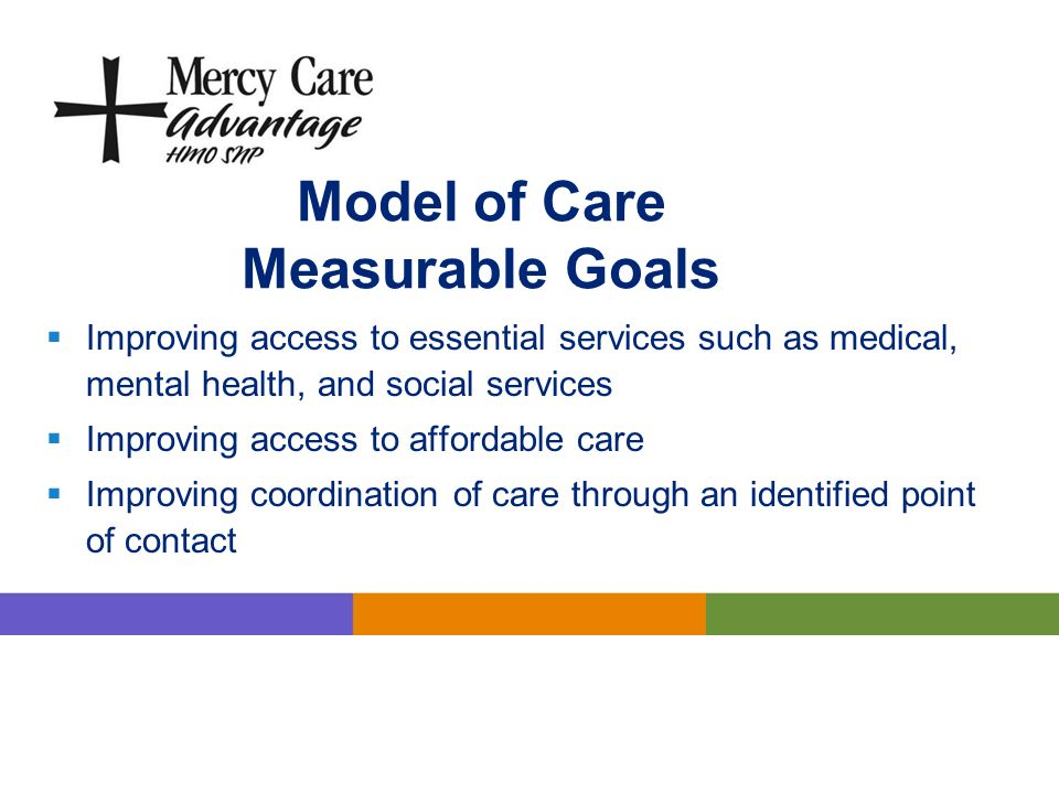 Model of Care Measurable Goals