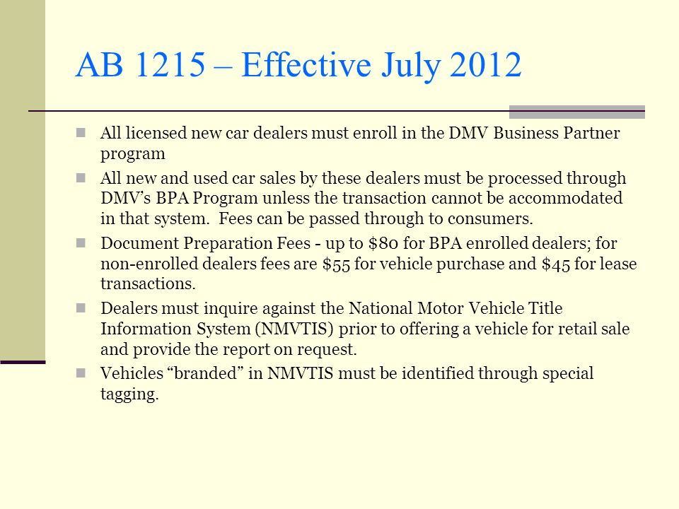 Dmv registration operations division ppt video online for National motor vehicle license organization