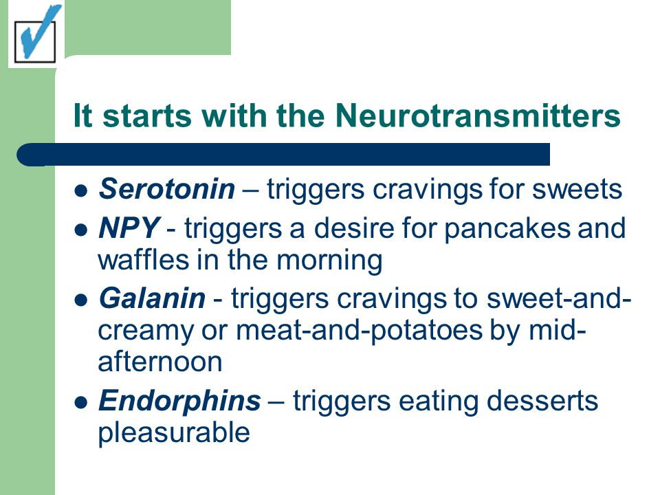 It starts with the Neurotransmitters