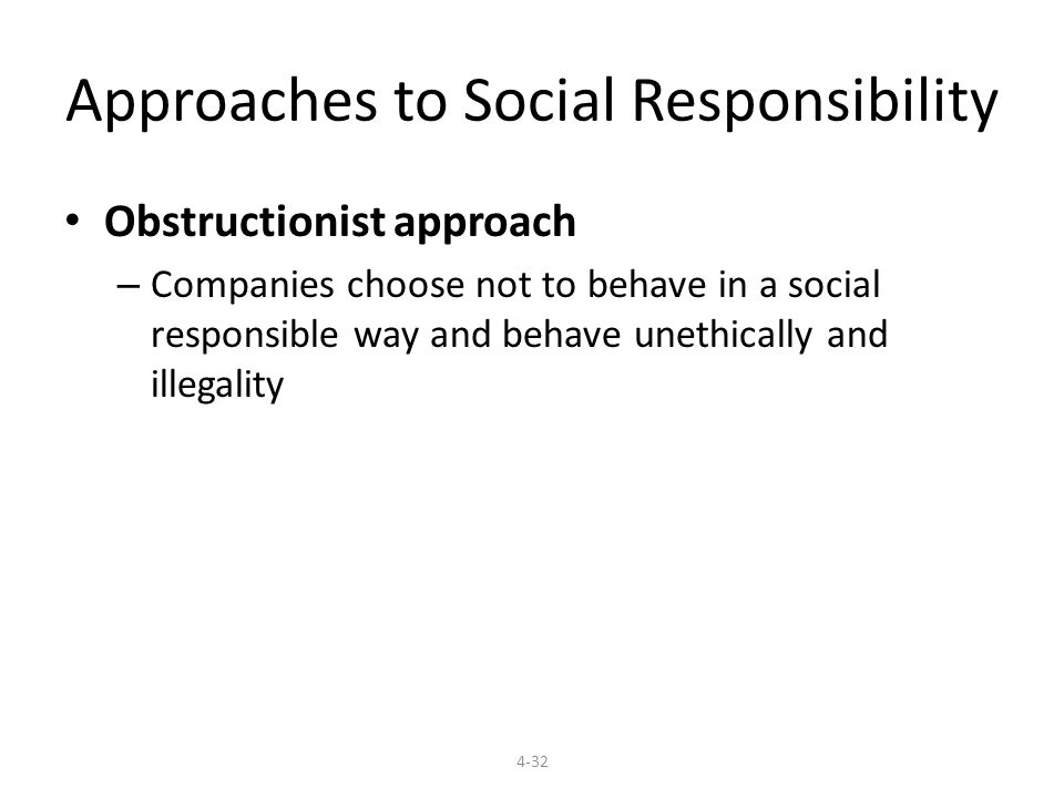 obstructionist approach to social responsibility Obstructionist definition, a person who deliberately delays or prevents progress see more.