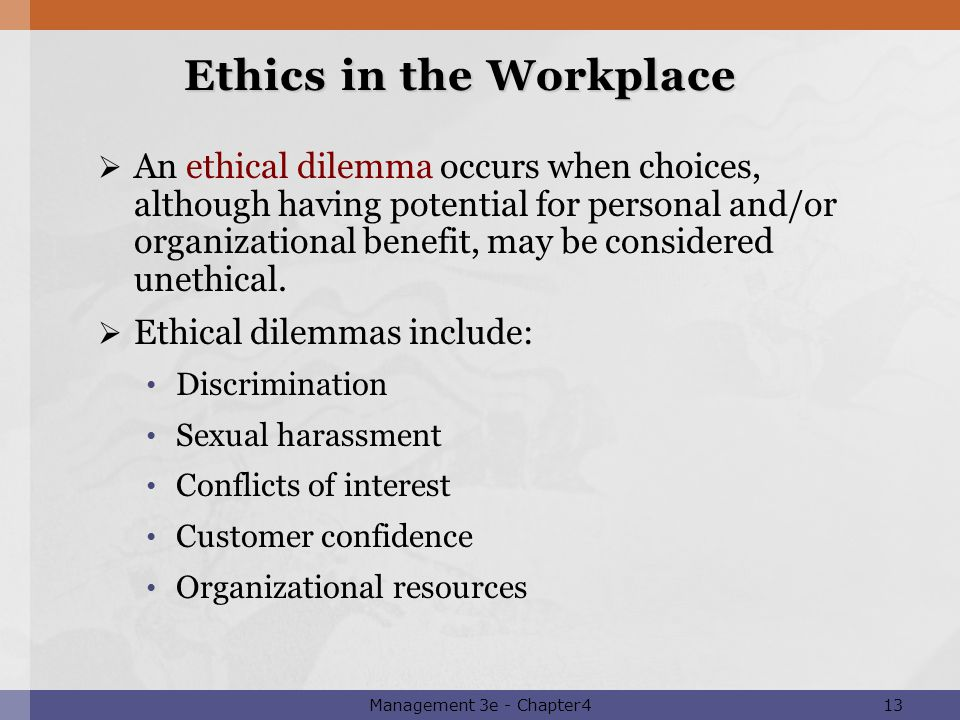 Powerpoint presentation to accompany management third canadian 13 ethics in the workplace publicscrutiny