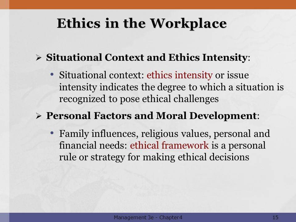 ethical theory frameworks in the workplace essay Applying ethical frameworks in practice essay applying ethical theories to primary care chccs400c work within a legal and ethical.
