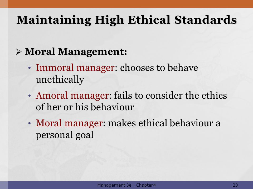maintaiing ethical standards All workers in the community welfare and health industry base their work on a  broad platform of ethical principles these principles act as a guide to how we.