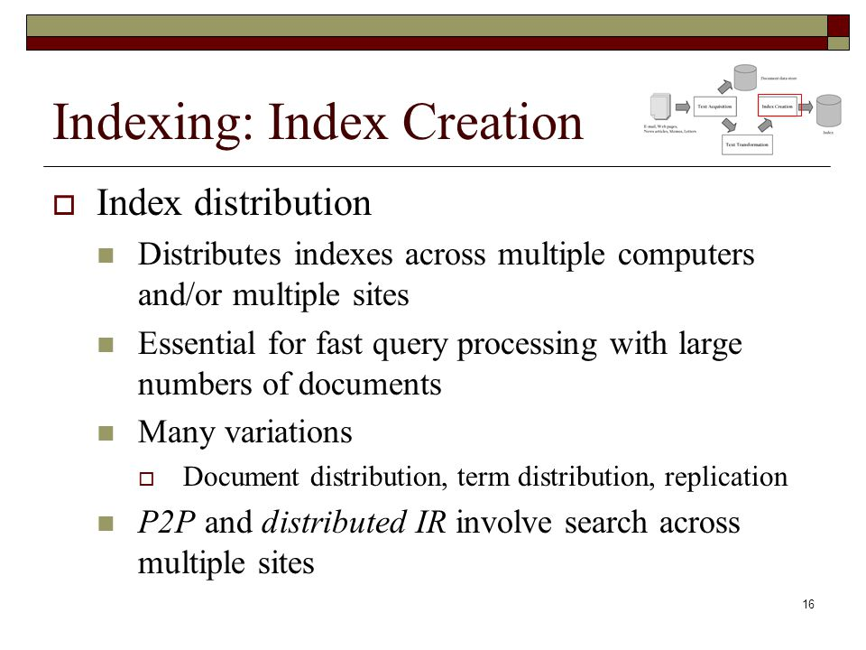 Indexing: Index Creation