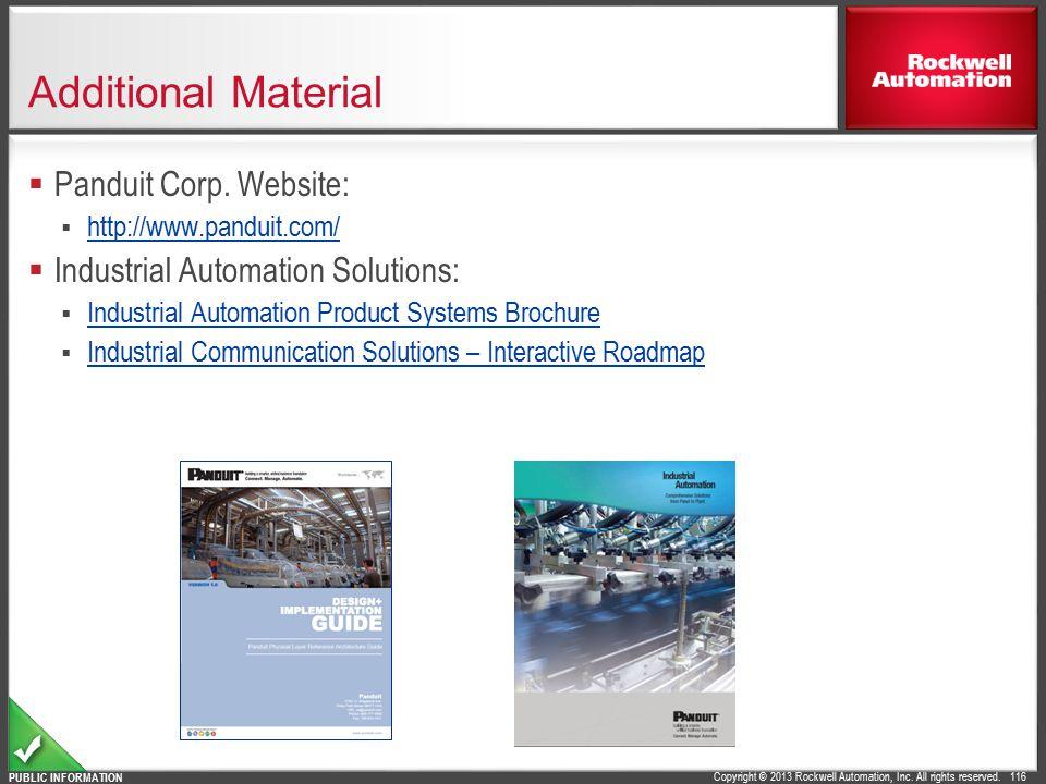Additional Material Panduit Corp. Website: