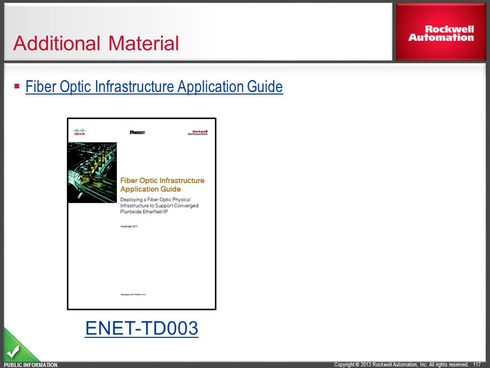 Additional Material ENET-TD003