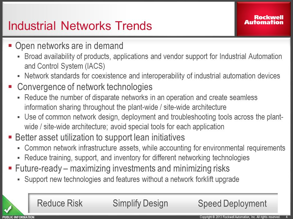 Industrial Networks Trends