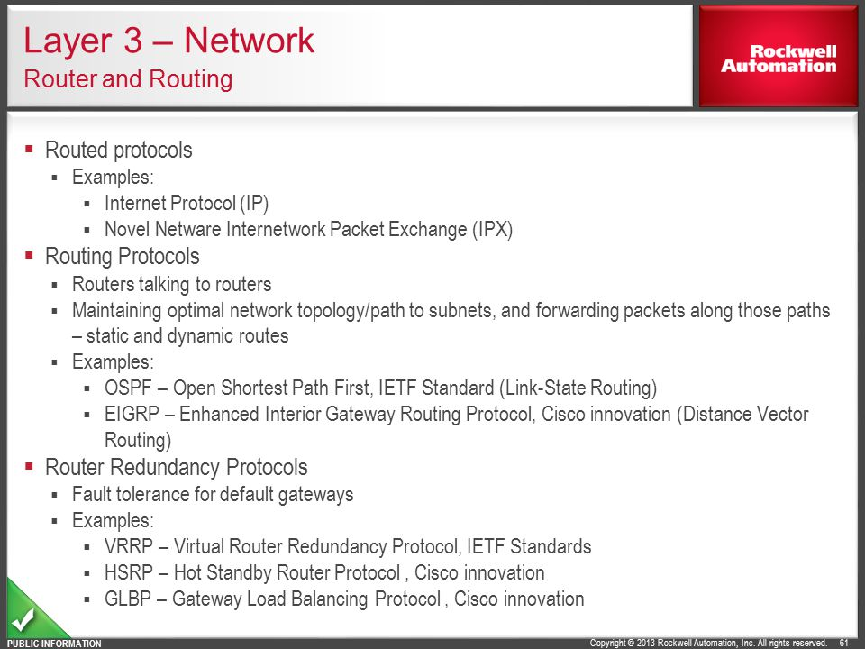 Layer 3 – Network Router and Routing