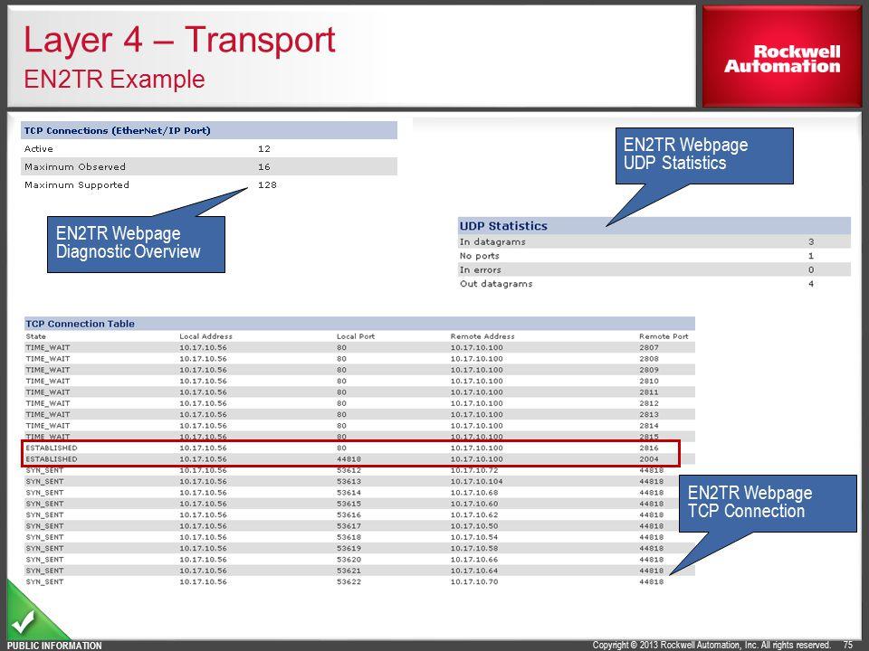 Layer 4 – Transport EN2TR Example