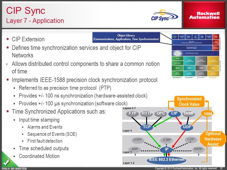 CIP Sync Layer 7 - Application