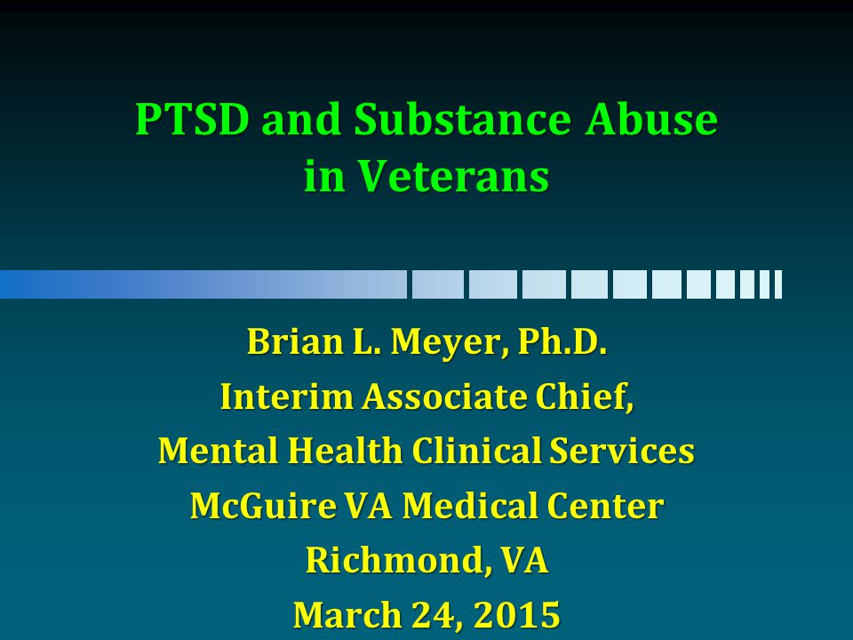 an investigation into the mental health and substance abuse among veterans essay Study showed that veterans with mental health disorders investigation into drug dealing among those people on a secret mental health.