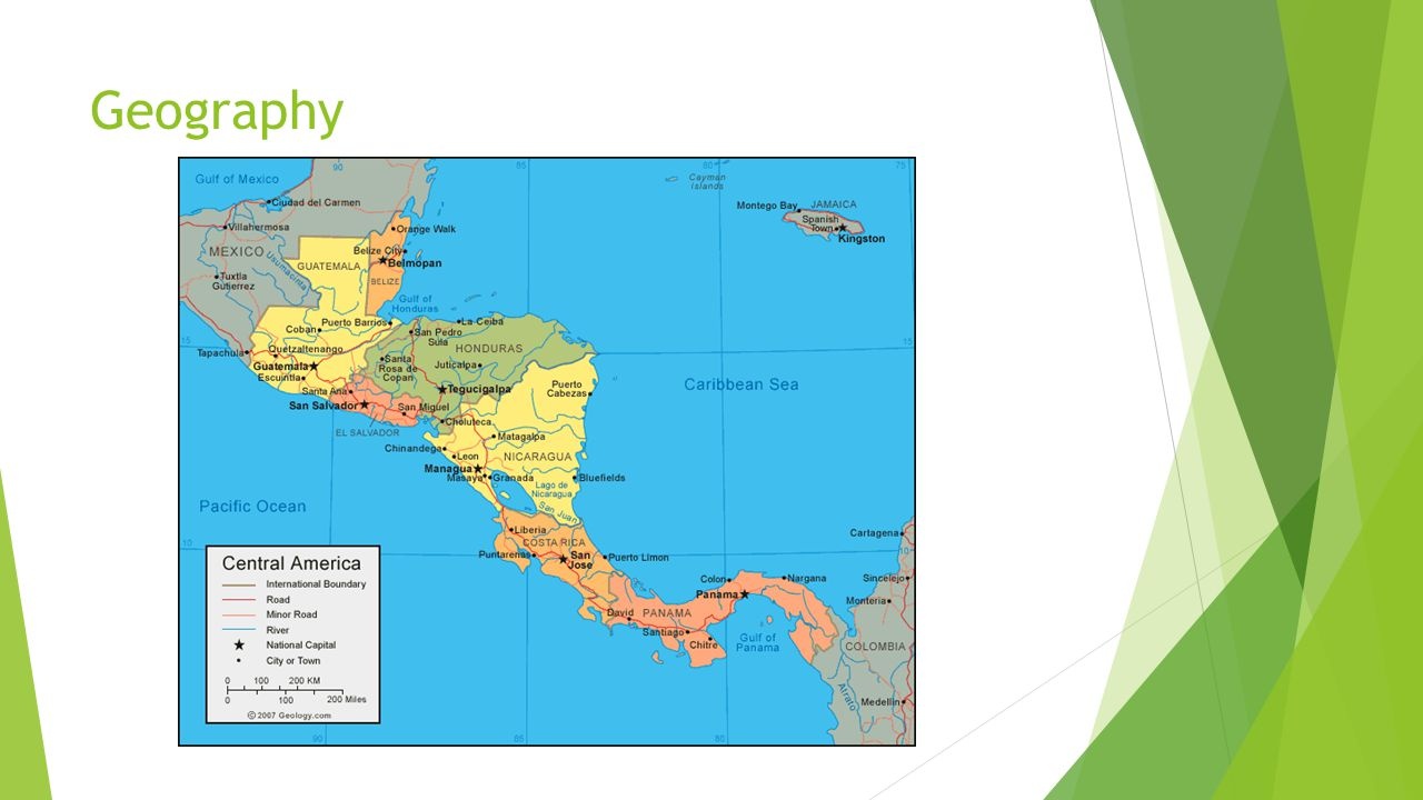 Central America Physical Map What Is Map Eglin Afb Map - Central america physical map 2007