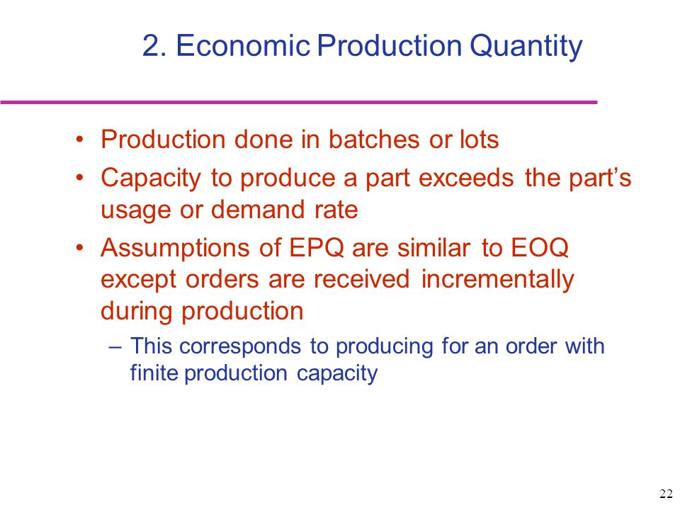 manufacturing and economic order quantity essay An economic system is slackly defined as country's plan for its services, goods produced, and the exact way in which its economic plan is carried out there are three types of economic systems exist, they are command economy, market economy, and mixed economy.