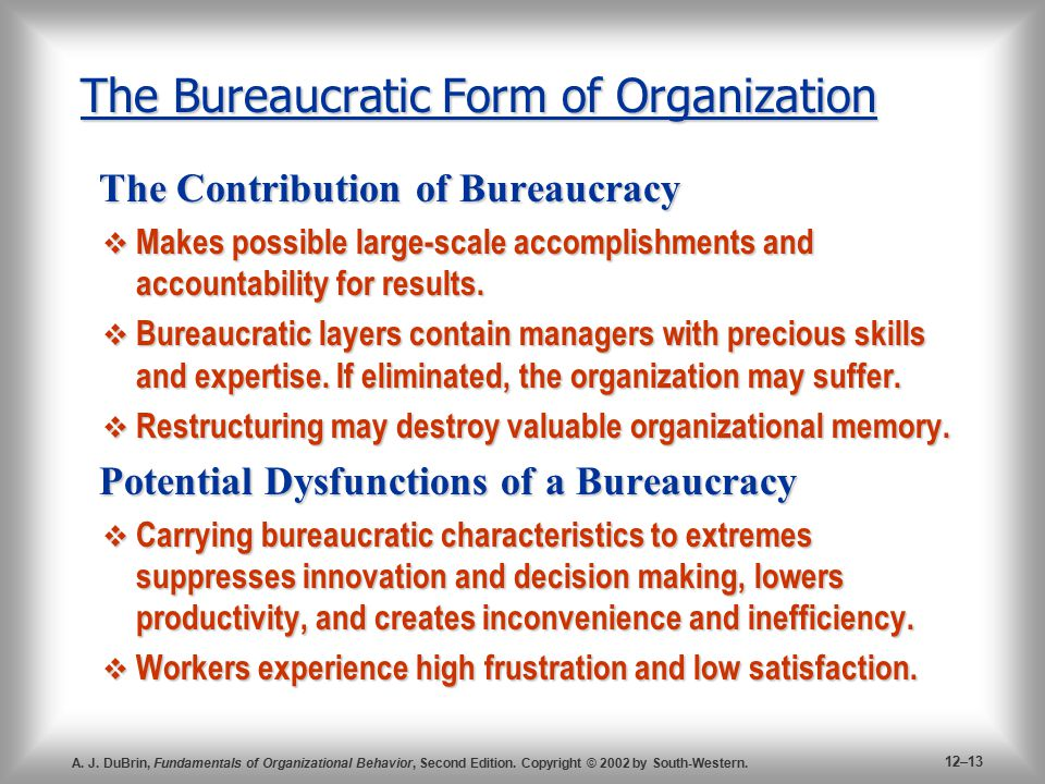 what are the sources of bureaucratic power Sources of bureaucratic delay: a case study of ferc dam relicensing three testable hypotheses for the source of bureaucratic delay first, stemming power production, was the federal power commission.
