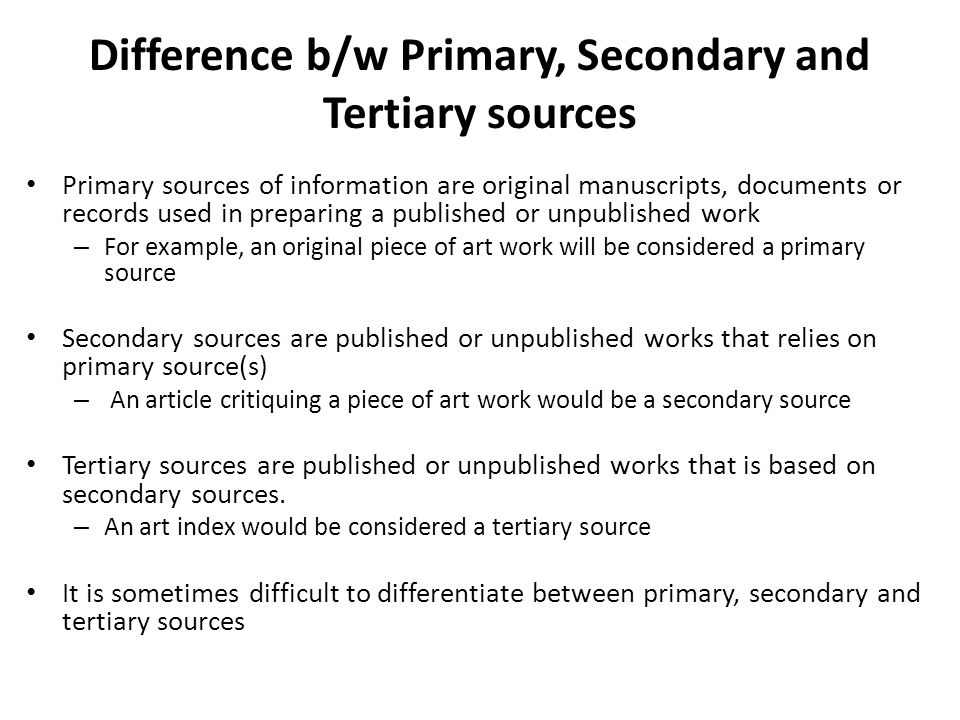 tertiary sources of information pdf