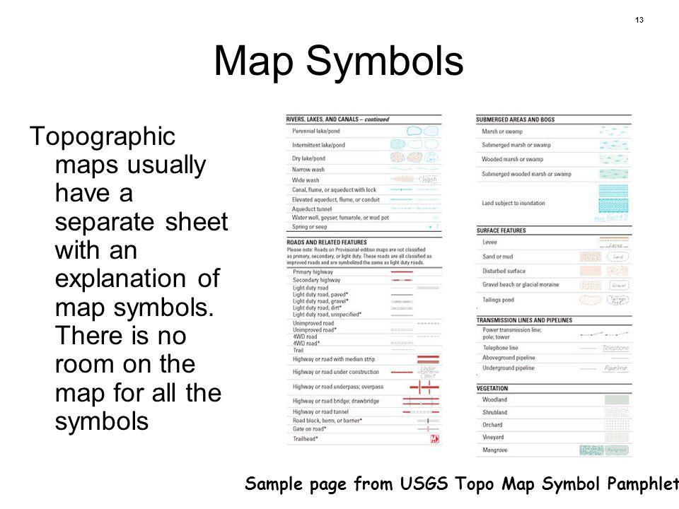 Usgs Map Symbols Sheet Erkalnathandedecker