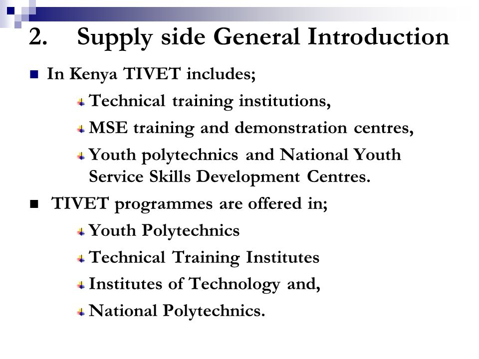maseno youth polytechnics curriculum in kenya Ministry of education, science and technology kenya  to develop the national  policy of youth polytechnics and vocational sectordevelop, implement  and  training (nvcet) curriculumequip youth with technical, vocational, life skills and .