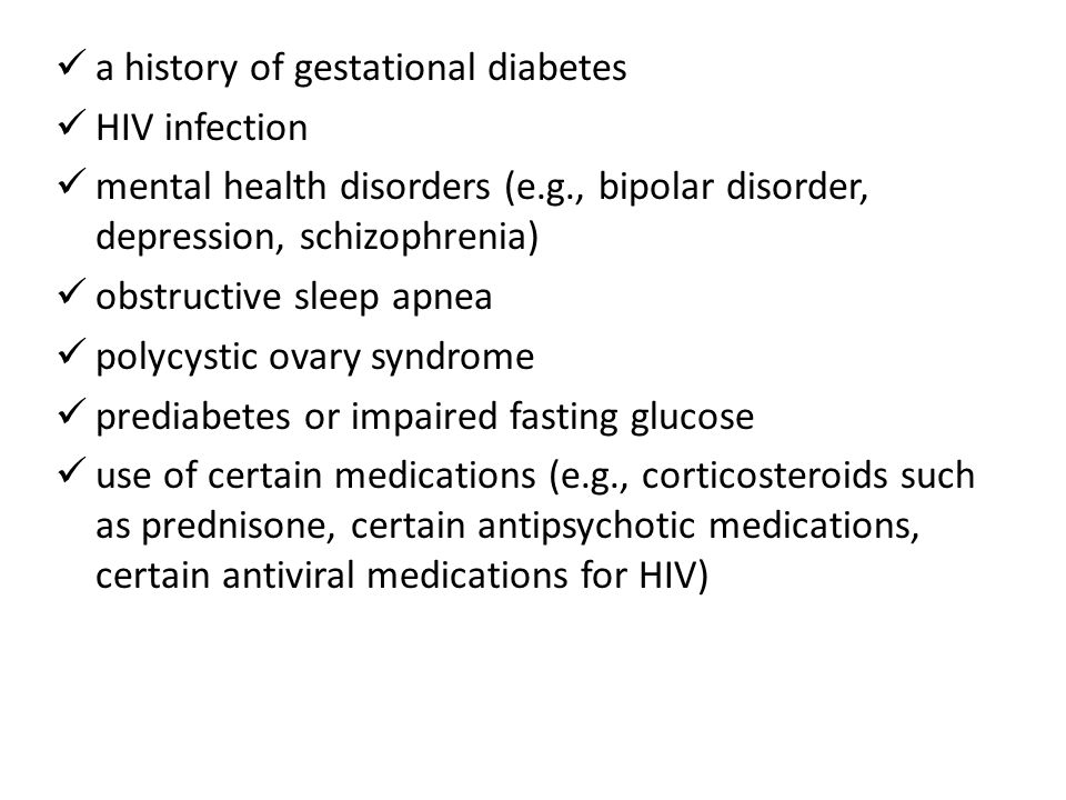 a history of gestational diabetes