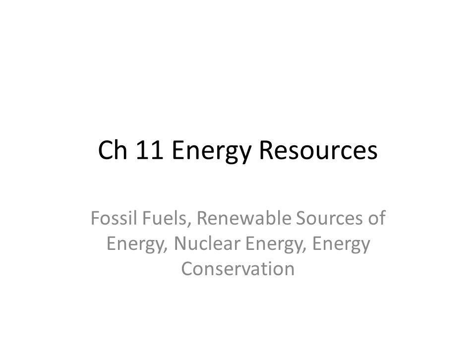 essay on conservation of energy resources