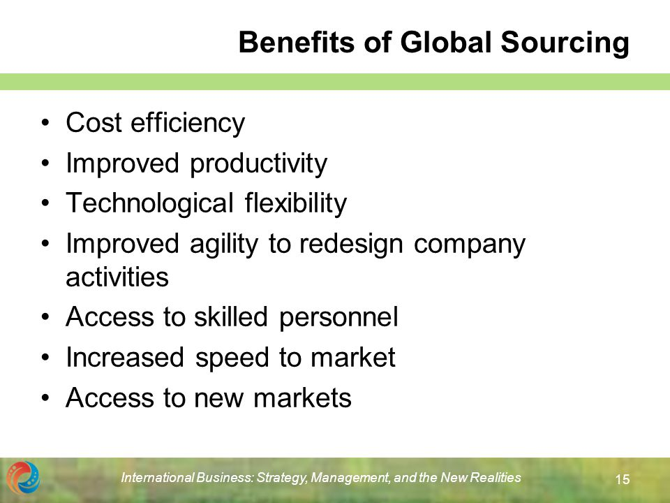 global sourcing benefits and challenges for Global sourcing offering a complete sourcing service to companies looking to procure effectively from low cost countries we understand the challenges involved and work in partnership to address the risks and deliver results to the bottom line.