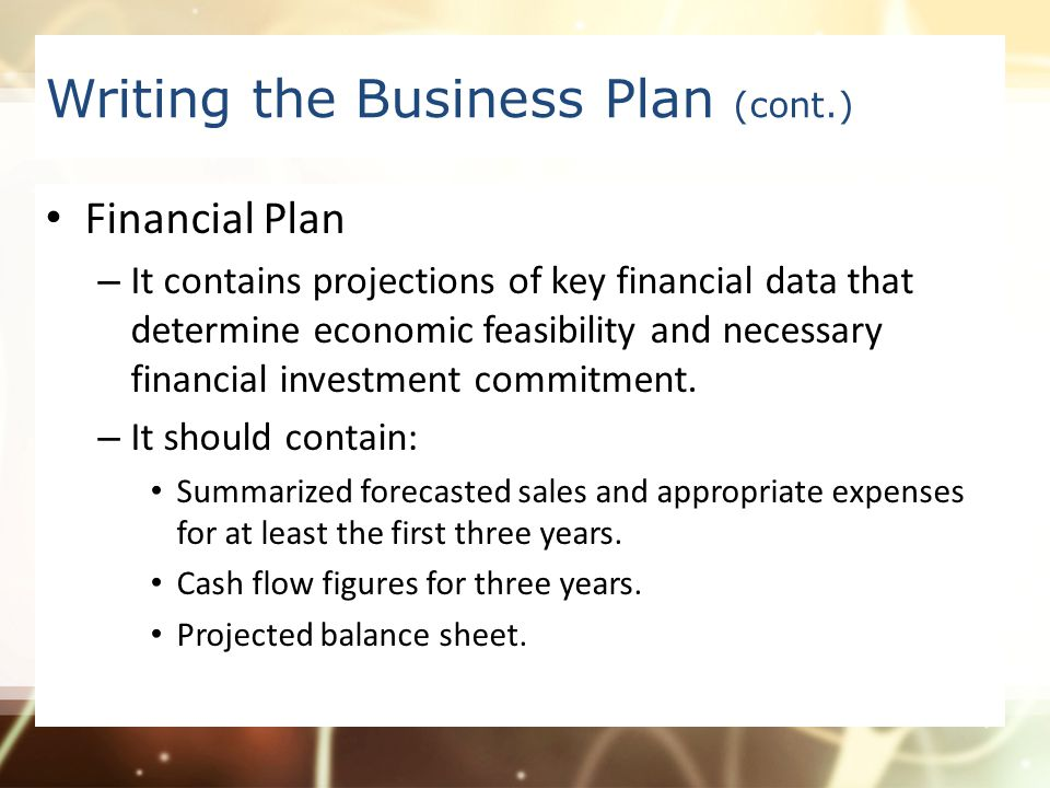 What Information Does a Business Plan Contain?