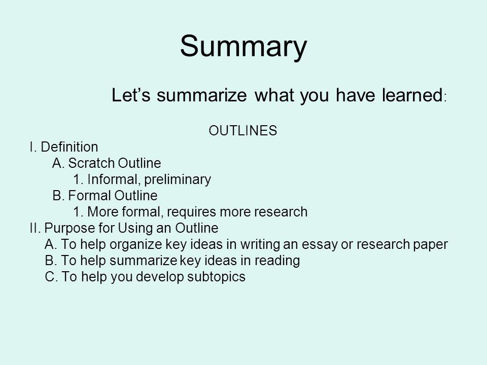 essay organization definition