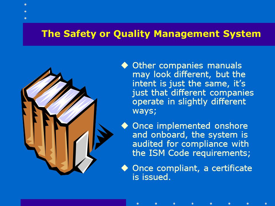The Safety or Quality Management System
