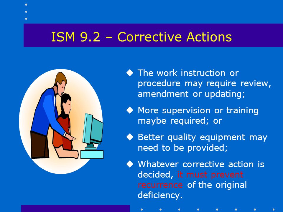 ISM 9.2 – Corrective Actions