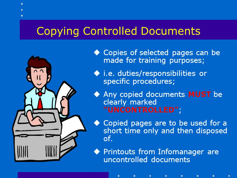 Copying Controlled Documents