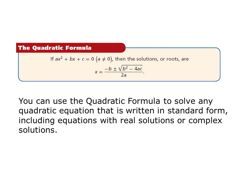 how to solve quadratic formula in calculator