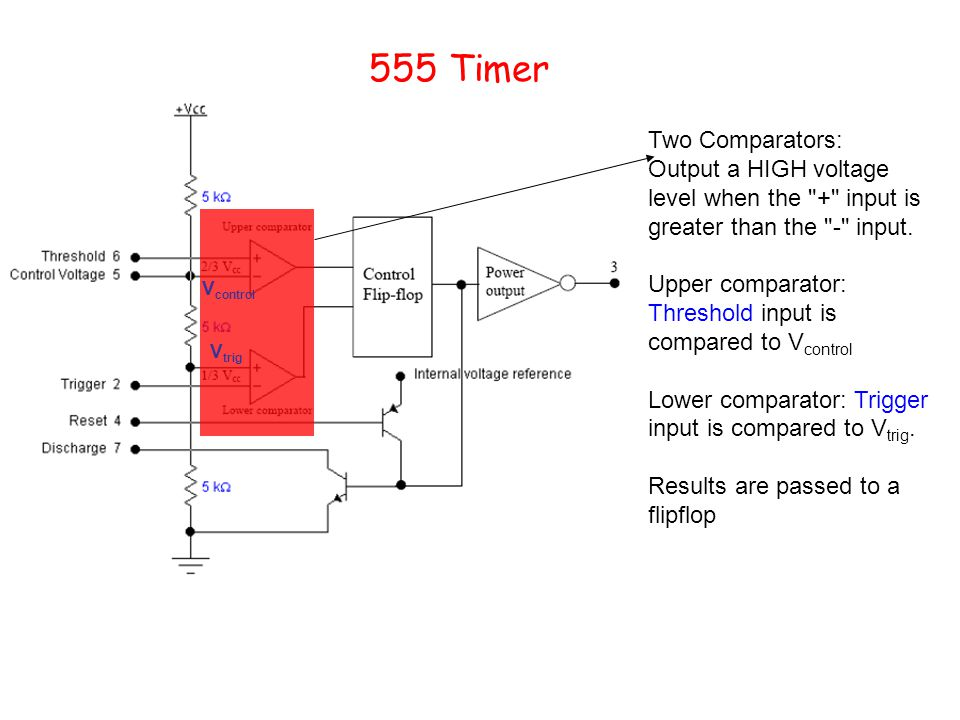 555 Timer Two Comparators: