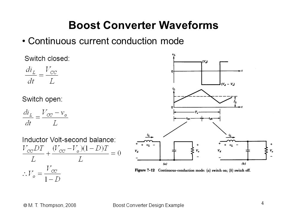 Power Electronics Notes 07c Boost Converter Design Example