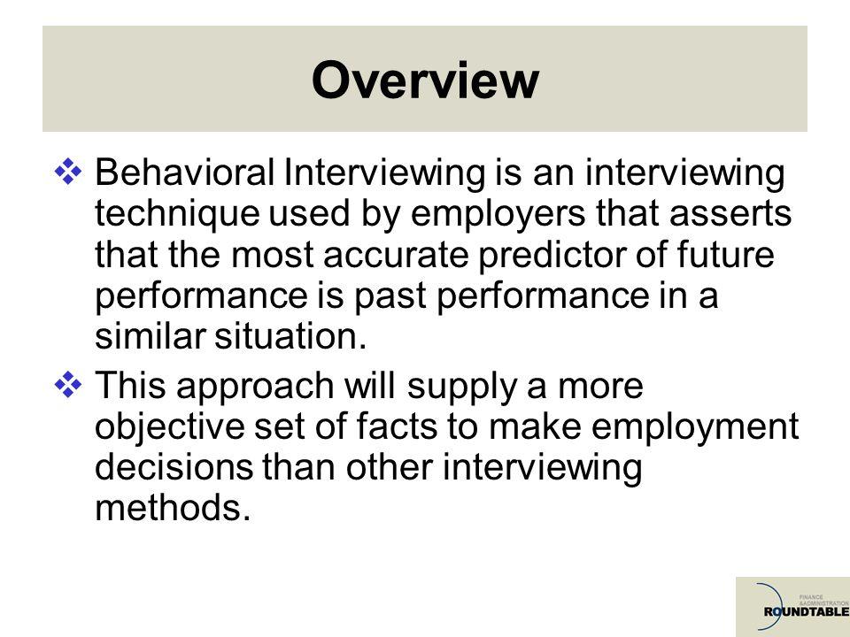 Behavioural Event Interview Accreditation Training
