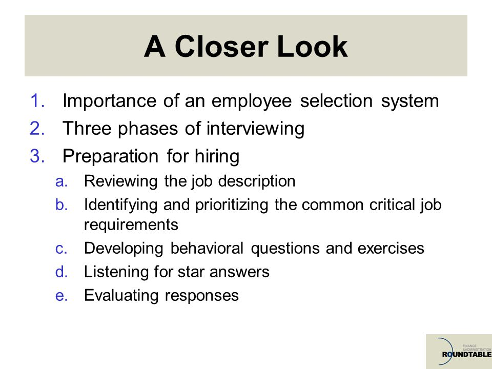 Behavioral Interviewing A Key To Effective Employee Selection  Ppt