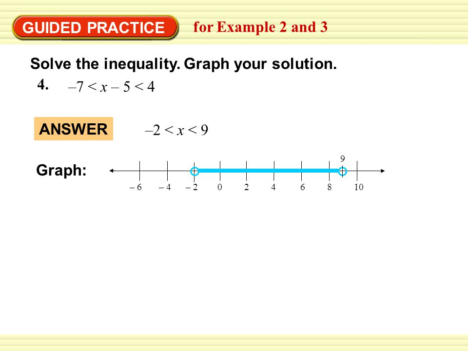 Solve a compound inequality with and for Example 2 and 3