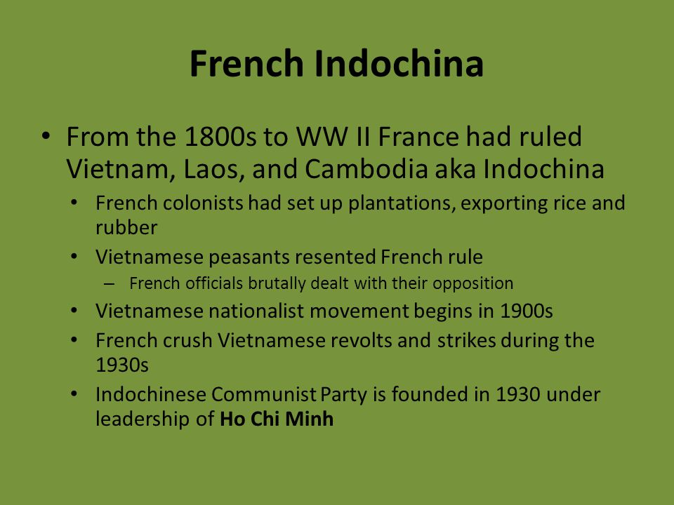 conflict in indochina Conflict in southeast asia, primarily fought in south vietnam between government forces aided by the united states and guerrilla forces aided by north vietnam the war began soon after the geneva conferencegeneva conference, any of various international meetings held at geneva, switzerland some of .