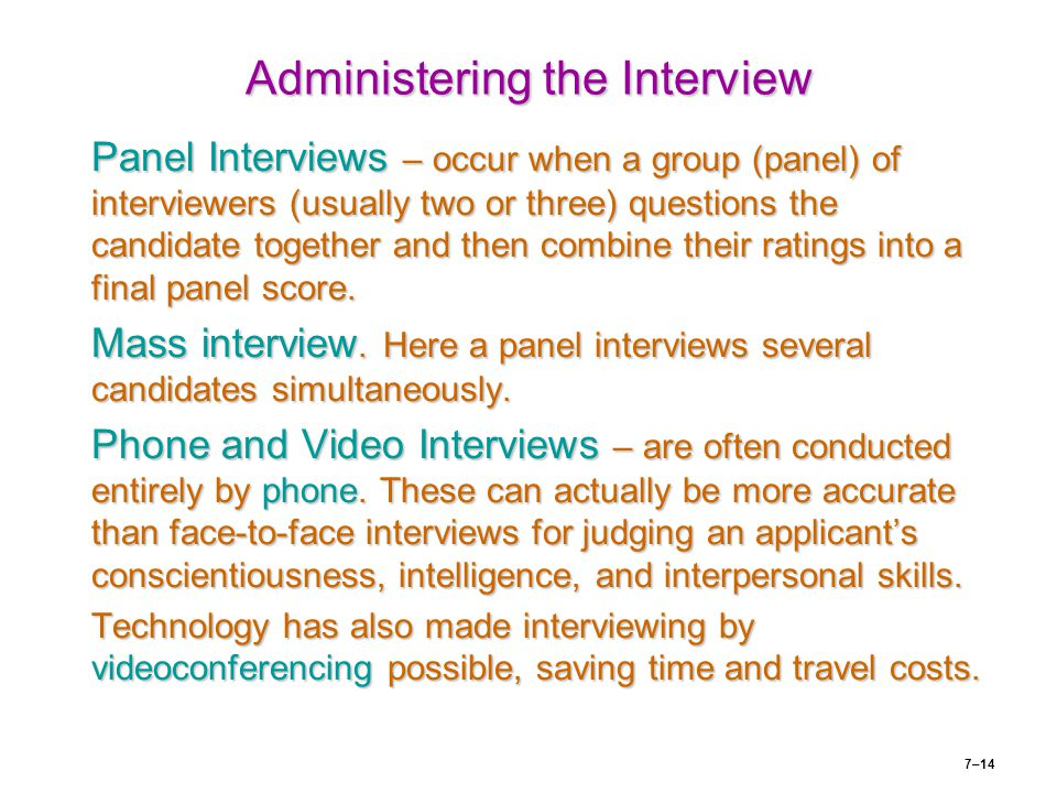 Administering the Interview