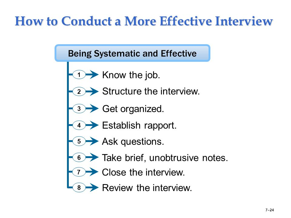 How to Conduct a More Effective Interview