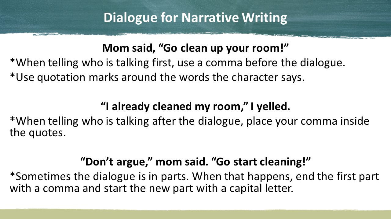 write dialogue narrative essay See our narrative essay samples to learn how to express your own story in words read the following essay to know how to write a good narrative paper.