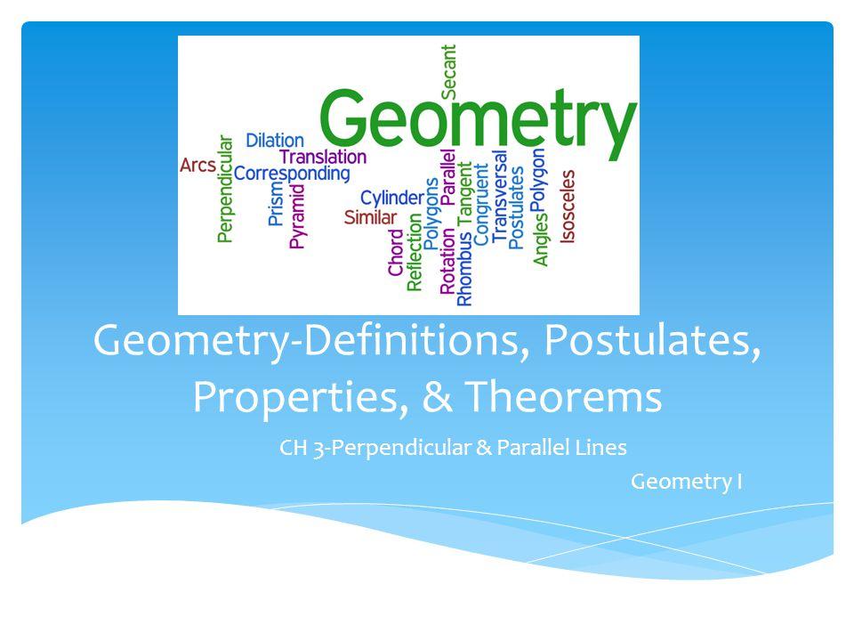 properties and postulates