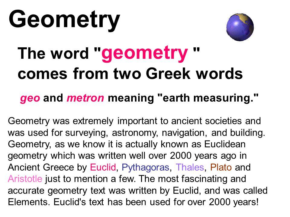 Geometry The word