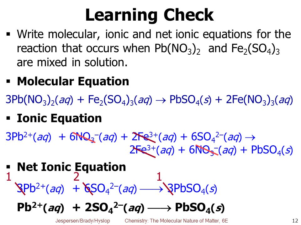 write a balanced net ionic equation for the following reaction