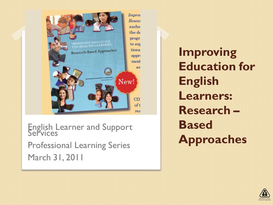 Improving Education for English Learners: Research – Based Approaches