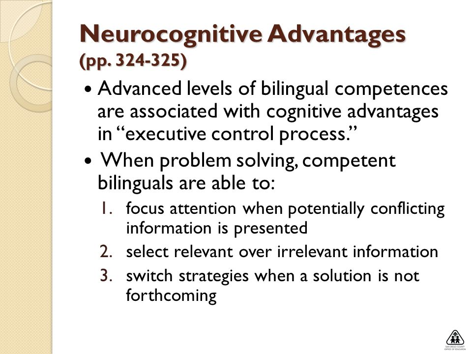Neurocognitive Advantages (pp )